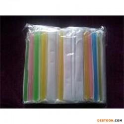 纸塑复合独立包装长粗吸管 一次性吸管 塑料吸管 武汉吸管批发