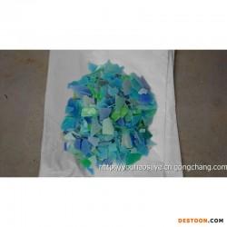 供蓝绿黄低压盆HDPE粉碎料