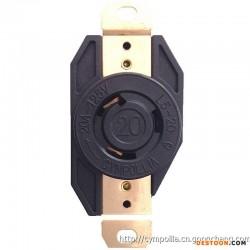 兰杜NEMA L5-20R 美式防脱工业发电机暗装插座