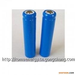 罗马可充电圆柱异型锂离子电池,AA 10440 3.7V 300mAh