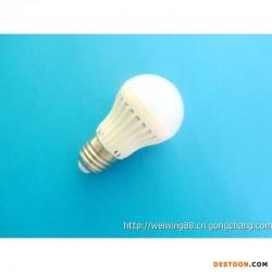 热销批发用超亮贴片省电长寿命塑壳5W 7WLED球泡灯低价格