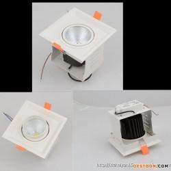 深圳厂家物价促销 LED格栅灯 COB格栅灯 单头格栅灯8W/12W 质保三年