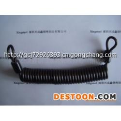 供应不锈钢/镀锌包胶钢丝绳弹簧钢索/钢丝绳弹簧钢索,镀锌索具,