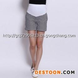 亚博国际娱乐平台_2014韩版春季新款 孕妇装 休闲正品孕妇短裤 孕妇格仔托腹短裤