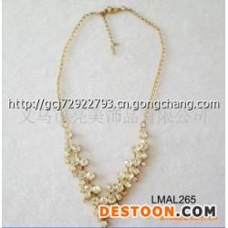 奢华复古镶钻合金项链LMAL265