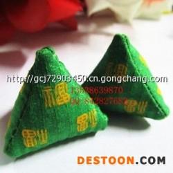 厂家热卖 端午节艾叶草粽子小香包 粽子礼物  绿色福粽D1822