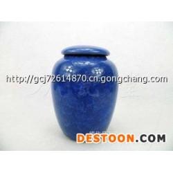 紫砂茶叶罐 冰裂茶具  密封茶叶罐 深蓝色 茶叶罐 茶叶包装