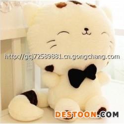 厂家批发加工毛绒玩具可爱大脸猫/饭团猫招财猫公仔娃娃 猫咪