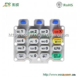刷卡POS机P+R硅胶按键