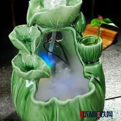 供应德化陶瓷陶瓷工艺品流水器