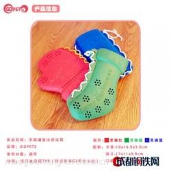 GDPETS宠物龙猫狗圣诞手套袜子多功能安全耐咬橡胶冰袋套漏食玩具
