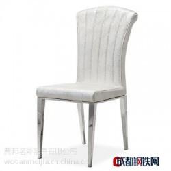 现代简约餐厅家具家用椅子酒店配套餐桌椅组合不锈钢PU皮餐椅Y119