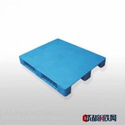 1210平板川字型重型塑料托盘仓储垫仓板川字不带防滑垫塑料栈板(普料新料黑料)