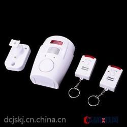 厂家直销 遥控防盗报警器 人体红外感应报警器 人体温度感应报警
