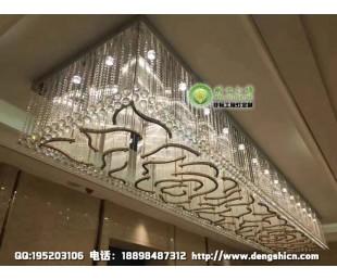 祥云图案工程水晶灯 中式风格水晶灯 酒店过道水晶灯定制