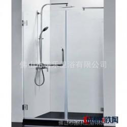 佛山淋浴房工厂加工玻璃隔断 定制淋浴隔断