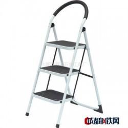 供应防滑铁圆管脚/3步铁梯子/可折叠家用梯/浙江厂家直销家用铁梯图片