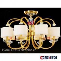 厂家直销、全铜灯、新中式、水晶灯