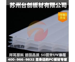 用于温室大棚、车棚、生态园的苏州台创板材厂家直销阳光板蜂窝板耐力板