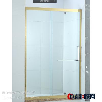 定制无框掩门简易淋浴房整体淋浴房隔断 一字形浴室推拉淋浴移门 举报