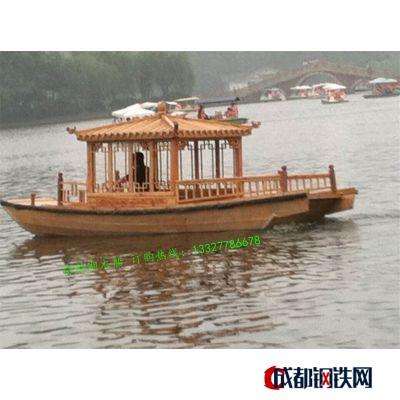 楚風木船新款觀光船/單亭船/手劃小木船/玻璃鋼船/旅游船/景觀裝飾客船