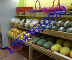 每米三层带镜水果架中岛展示柜超市木堆头定做深圳东莞钢木水果货架