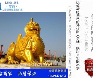 零爵雕塑《霸王貔貅》纯铜貔貅摆件 门口辟邪招财摆件 貔貅的摆放