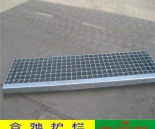 污水处理厂水沟热镀锌板盖 江门工厂排水沟钢格栅结实耐用