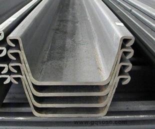 津西日標sy295拉森u型鋼板樁400*100/400*125/400*170/600*210圖片