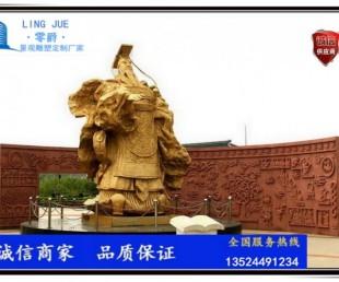秦始皇雕塑-历史人物赵政雕塑厂家图片