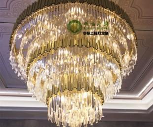 后現代長條水晶吊燈 輕奢后現代吊燈 輕奢餐廳水晶燈 水晶燈定制