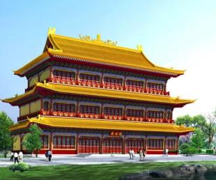 钢结构仿古工程专业设计 制造 安装~仿古钢结构工程十余年施工经验值得信赖!!
