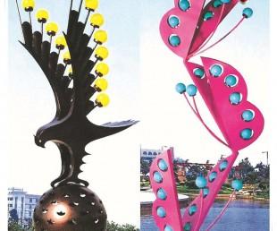 万宁城市景观蝴蝶雕塑-游乐园彩绘蝴蝶拱门定制图片