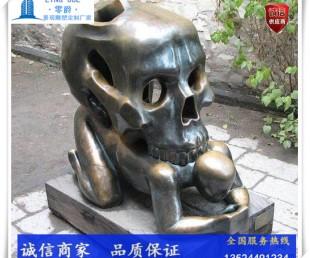 南充骷颅头雕塑-鬼屋景观定制图片