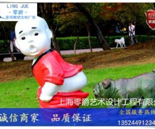 浙江狗狗拜年雕塑-搞笑狗狗定制