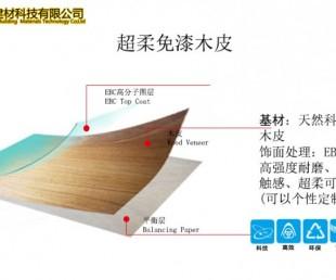 广州沃哲 超柔免漆木饰面 免漆木皮 厂家直销