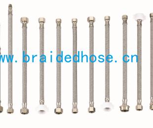 亚虎国际pt客户端_厂家直销304不锈钢编织尖头软管,水管厨房水龙头冷热进水管