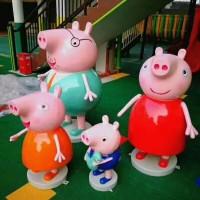 贵阳小猪佩奇雕塑 佩奇卡通动物系列雕塑