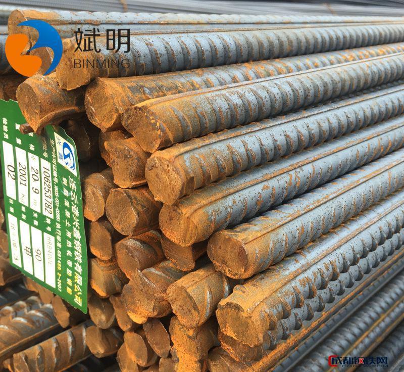 螺紋鋼 熱軋鋼筋建筑鋼材盤螺精軋建材鍍鋅加工三級螺紋鋼圖片