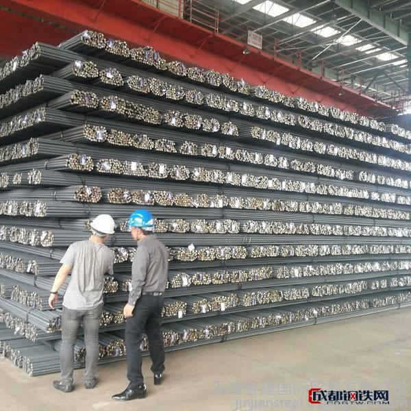 天津集港出口現貨平價出售熱軋鋼筋圖片