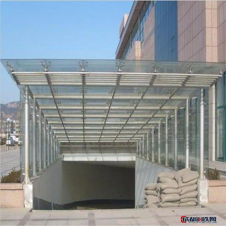精心设计景观玻璃雨棚,阳江市户外阳光雨棚制作,云浮市学校雨棚安装,钢结构雨棚装饰工程