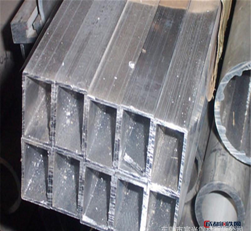厂价批发6063厚壁铝合金方管 定做加工铝合金方距管 扁管铝