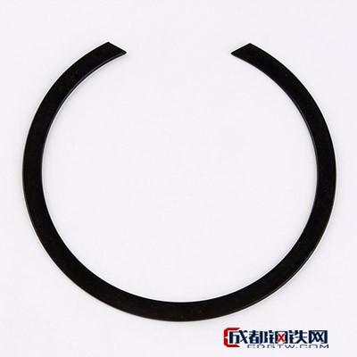 温州海安紧固件 挡圈供应德标孔用压扁钢丝挡圈 轴用挡圈