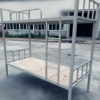 厂家直供学生下铁床,双层铁床,学生公寓床,定制铁床,工地用床图片