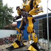 亚虎娱乐_上海零爵机器人模型大黄蜂雕塑道具