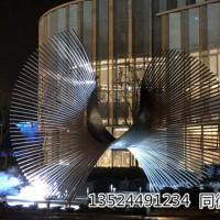 上海零爵抽象水景不锈钢管立体雕塑报价