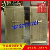 蚀刻青铜不锈钢柜展示柜 不锈钢展示柜图片