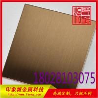 厂家直销304拉丝不锈钢古铜防指纹定制板图片