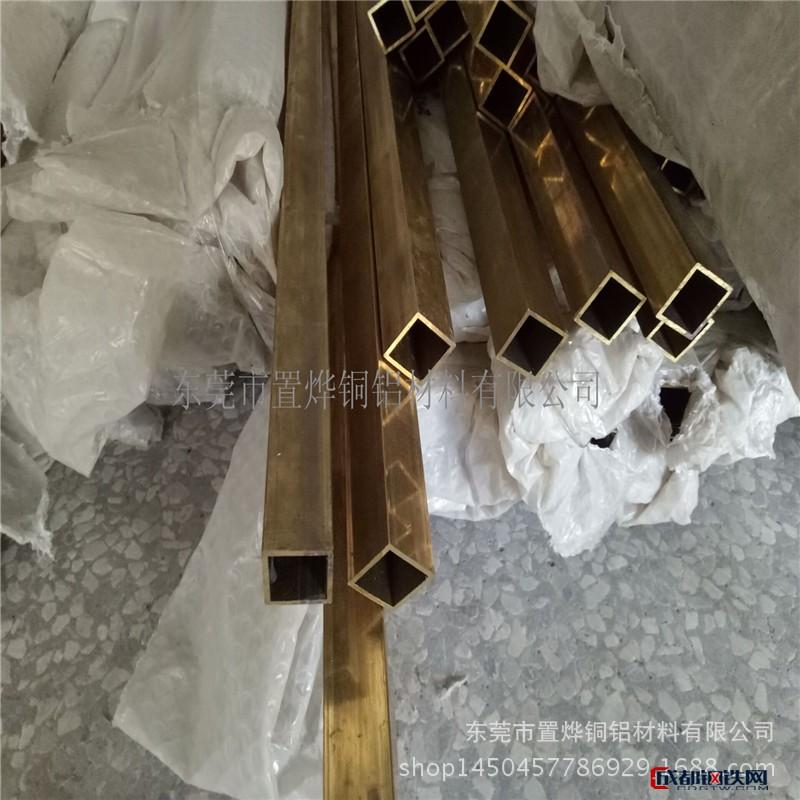 优质铜方管 H62黄铜扁管 薄壁大铜管 规格全-品质优