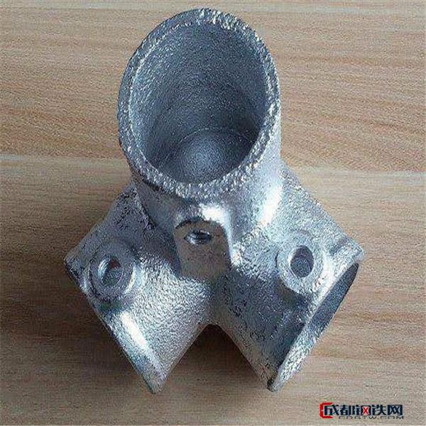 鸿源  铸铁管件 直三通、直四通、弯四通、弯头、底座、斜三、斜四、直管、万向通、角三通等   淘气堡扣件
